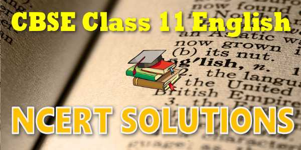 ncert solution of class 11 english