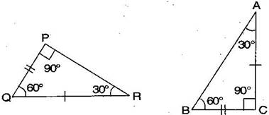 Congruence of triangles worksheet for class 7 | myCBSEguide | CBSE ...